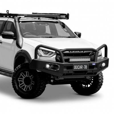Black steel bull bar to suit Isuzu D-MAX 09/20 on