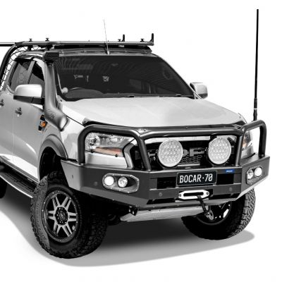 Black steel bull bar to suit Ford Ranger PX2 & PX3
