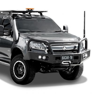 Black steel bull bar to suit Holden Colorado 2016+
