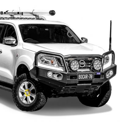 Black steel bull bar to suit Nissan Navara NP300