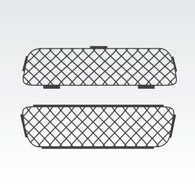 TrayTop Canopy Drop Down Front Window Security Mesh