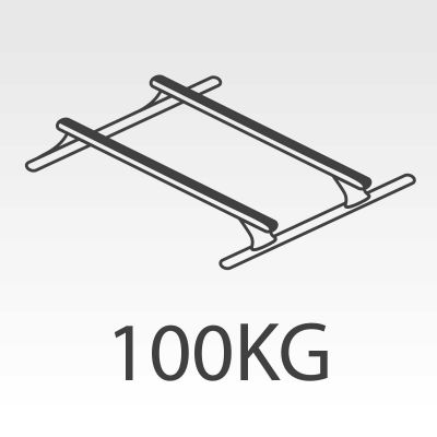 100kg Rhino Roof Racks to suit Flexiglass Canopies