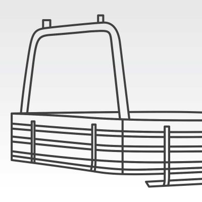 Removable Ø63mm rear ladder rack to suit Flexiglass Alloy Ute Tray