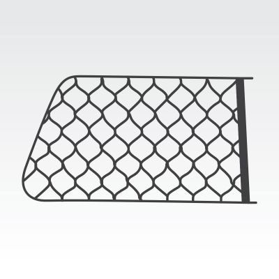 Flexi TrayTop or Combo Tradesman Side Window Security Mesh (both sides)