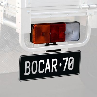 Tail and number plate lights