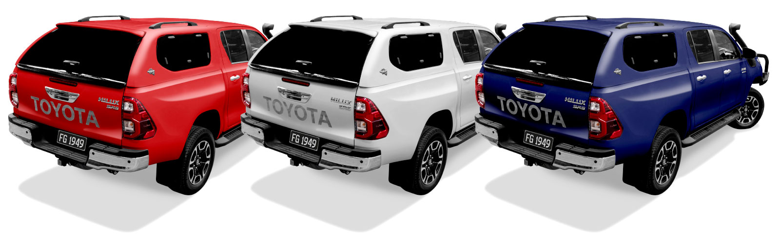 2020 Toyota Hilux Canopy Colour Options